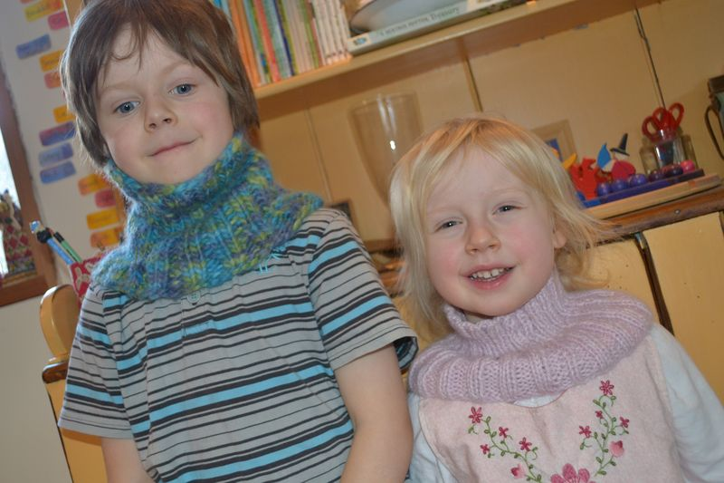 December 2011 - knit neckwarmers