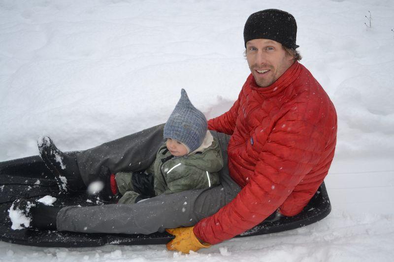 December 2011 - sledding 2