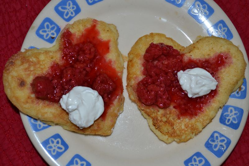 February 2012 - heart pancakes