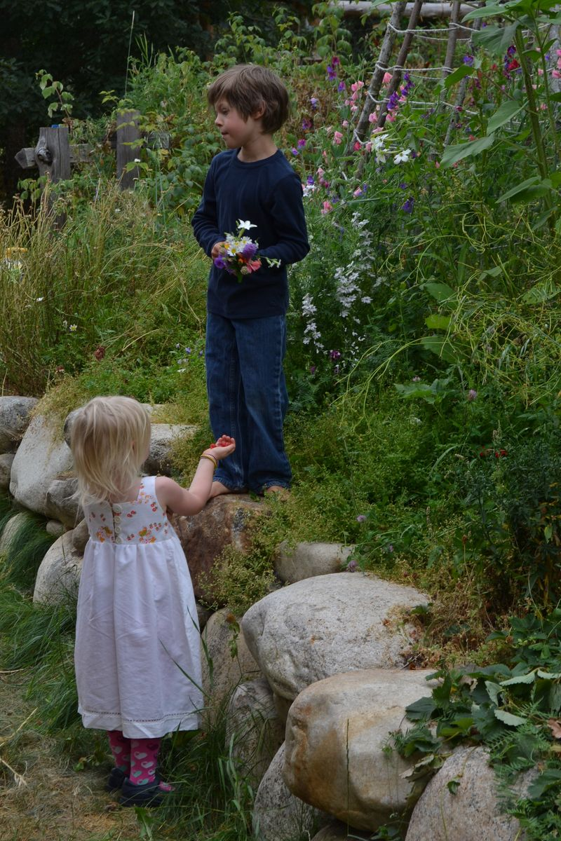 August 2012 - picking flowers for their wedding 1