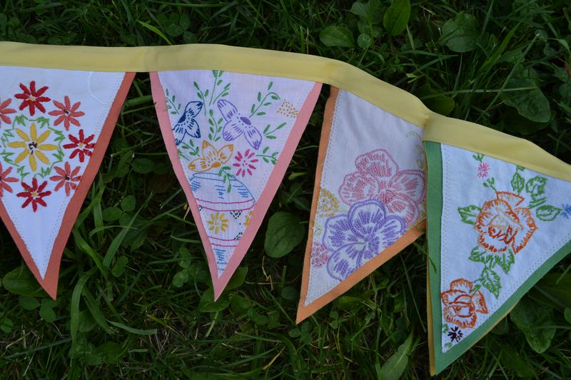 July 2013 - embroidery bunting for Summer