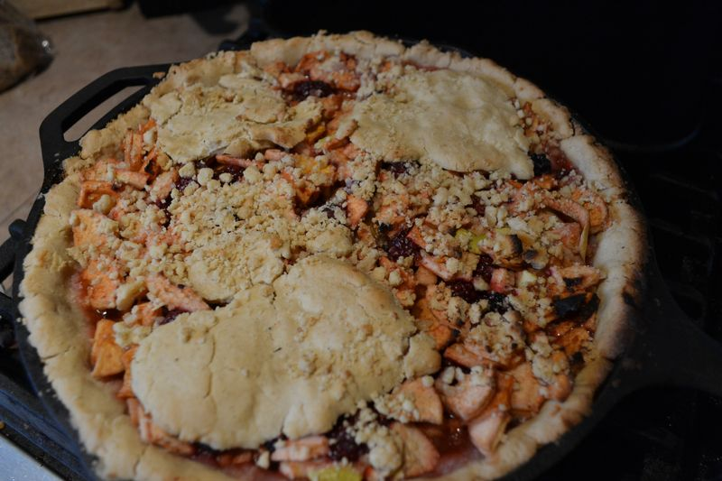 August 2014 - blackberry picking 2 - BBQ pie