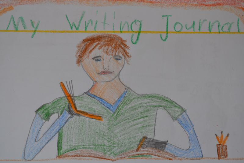 August 2014 - Leif's grade 2 writing journal