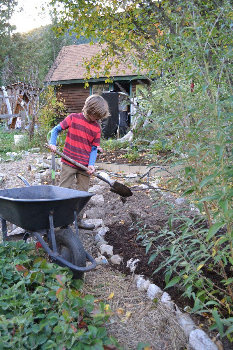 October 2014 - manure chores 2