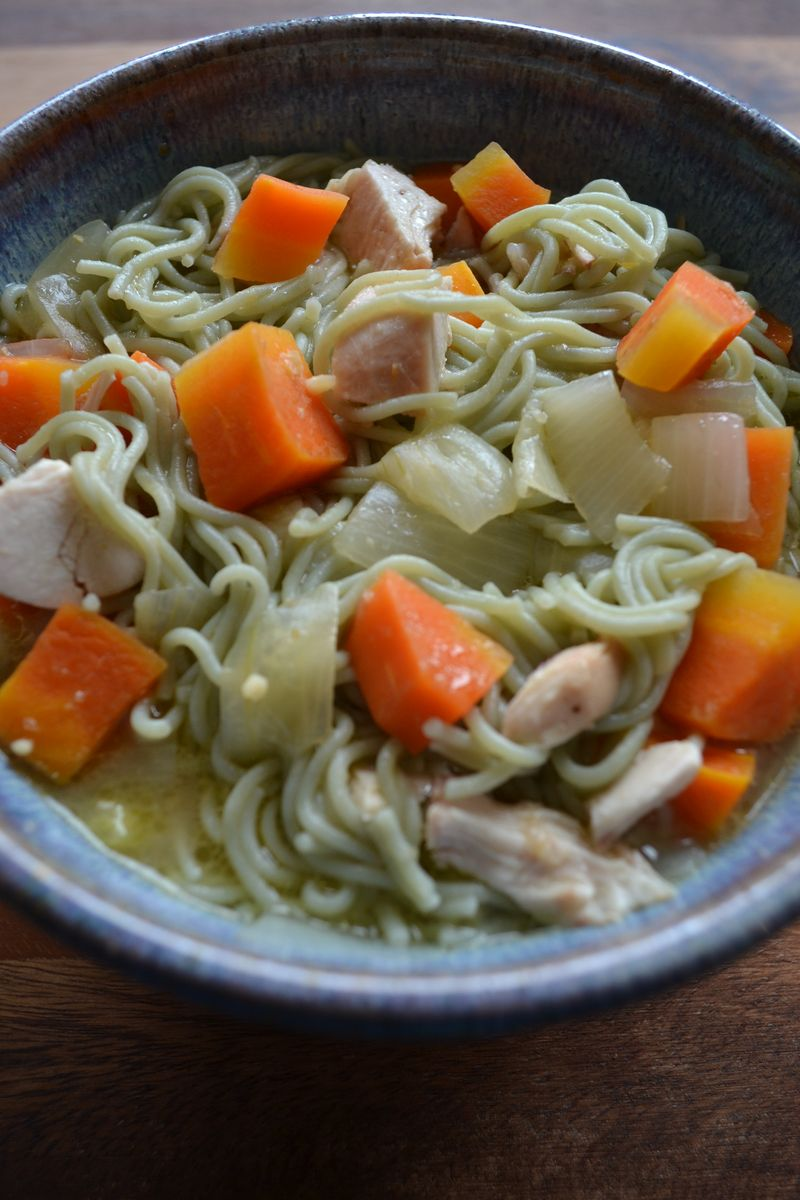 January 2015 - miso chicken noodle soup