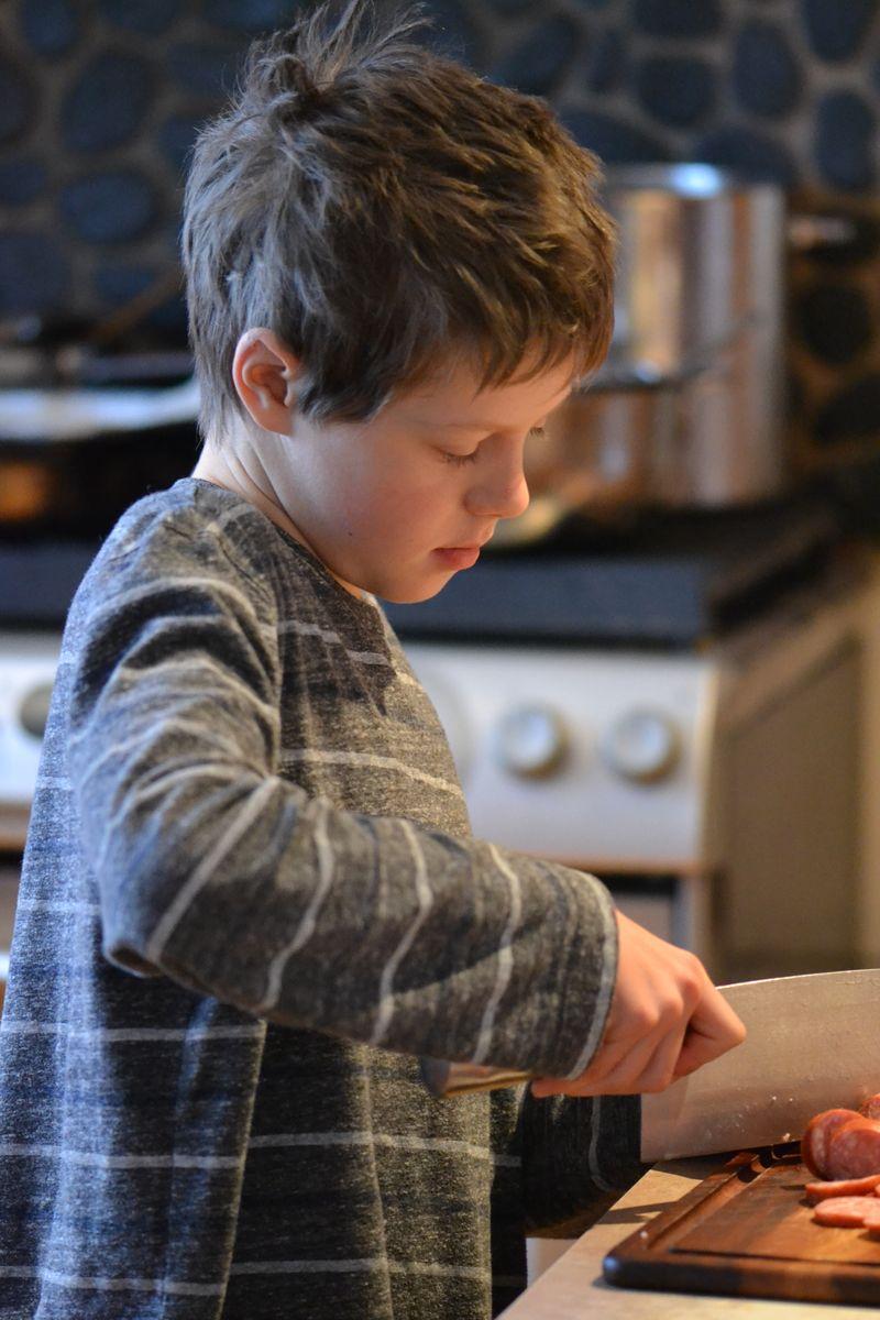 December 2015 - making breakfast