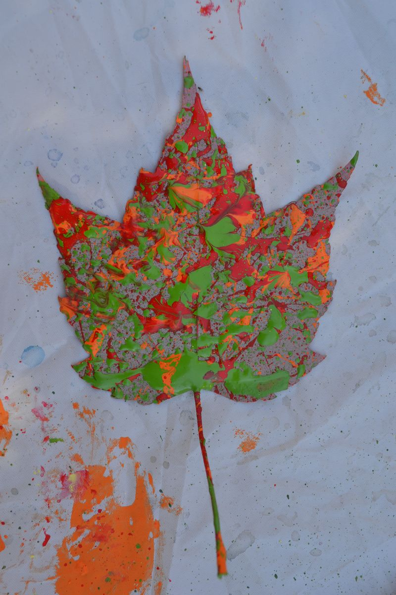 September 2014 - leaf spatter painting 4