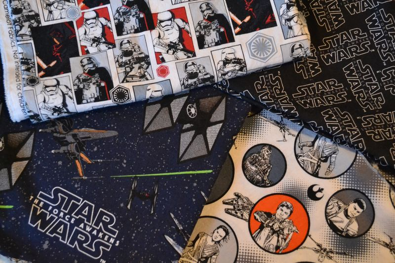 December 2015 - Star Wars fabric for pillows