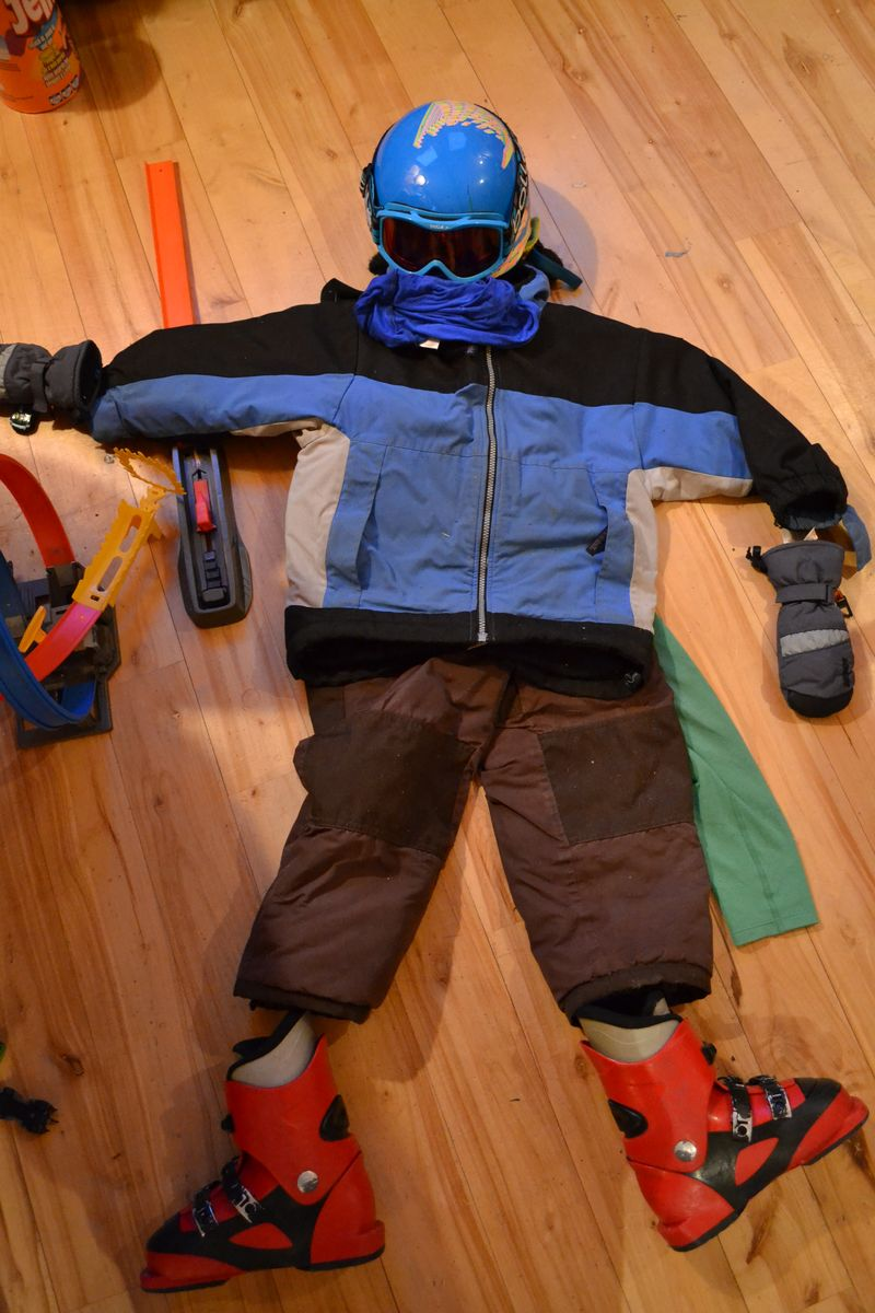 January 2016 - ski day prep
