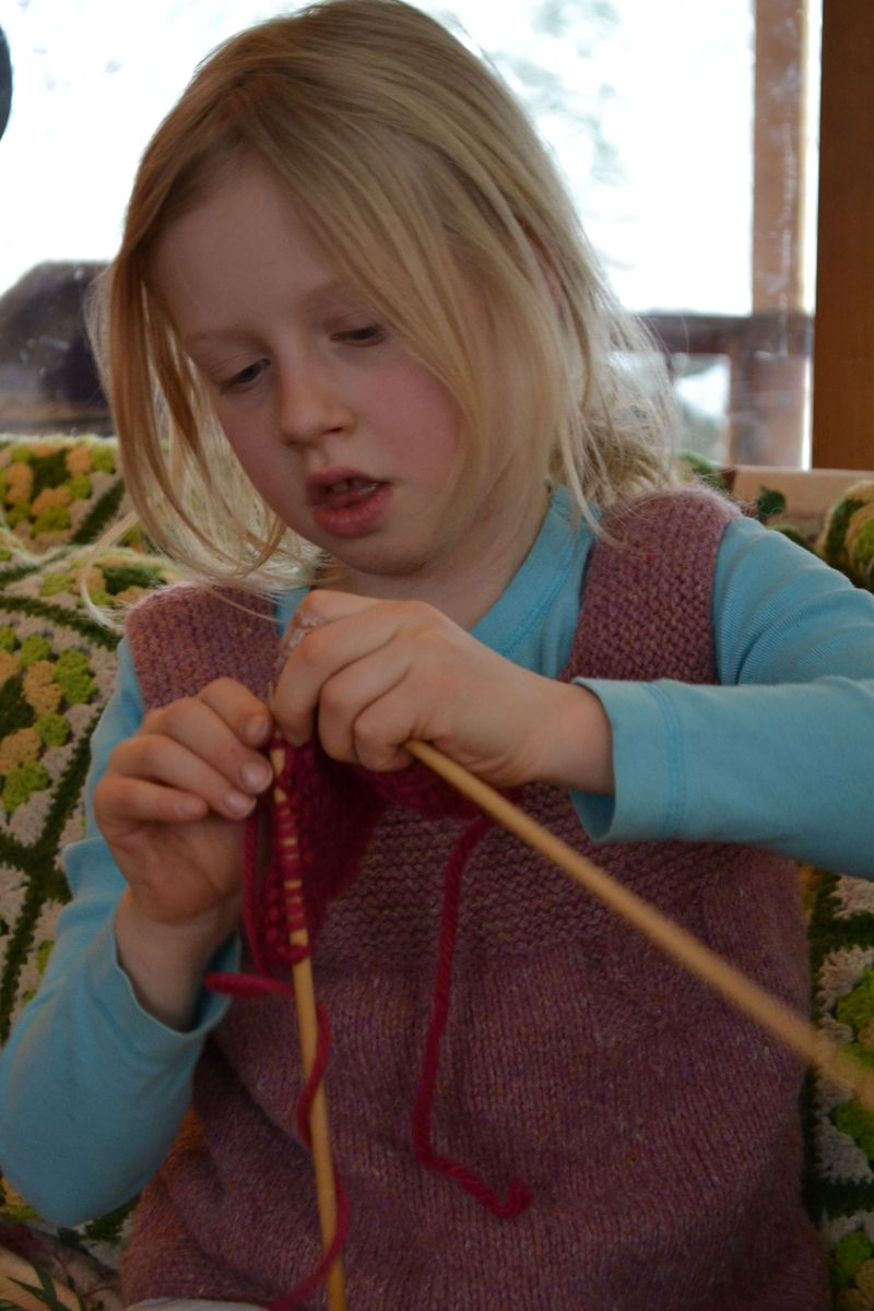 January 2016 - knitting a doll