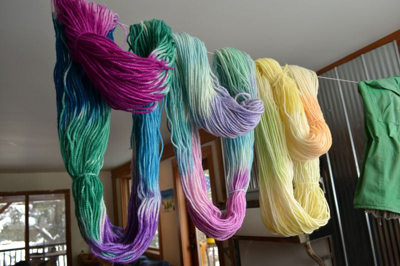 January 2016 - first dyed yarn