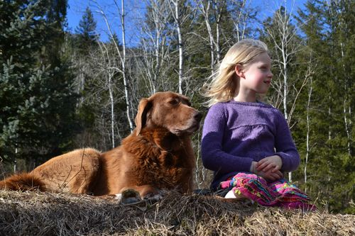 February 2016 - girl and her dog 2