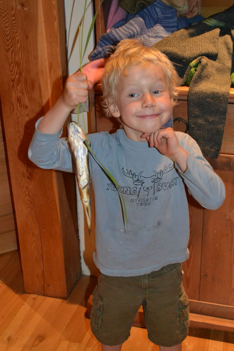 June 2015 - first fish